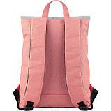 Рюкзак GoPack Сity 155-3 серо-розовый  44654, фото 4