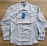 Детская рубашка с длинным рукавом Светло-серая от 116 до 164 см, фото 2
