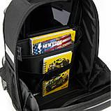 Рюкзак Kite Education для первоклассника с ортопедической спинкой каркасный  555 Хот Вилс Hot Wheels HW |44334, фото 9