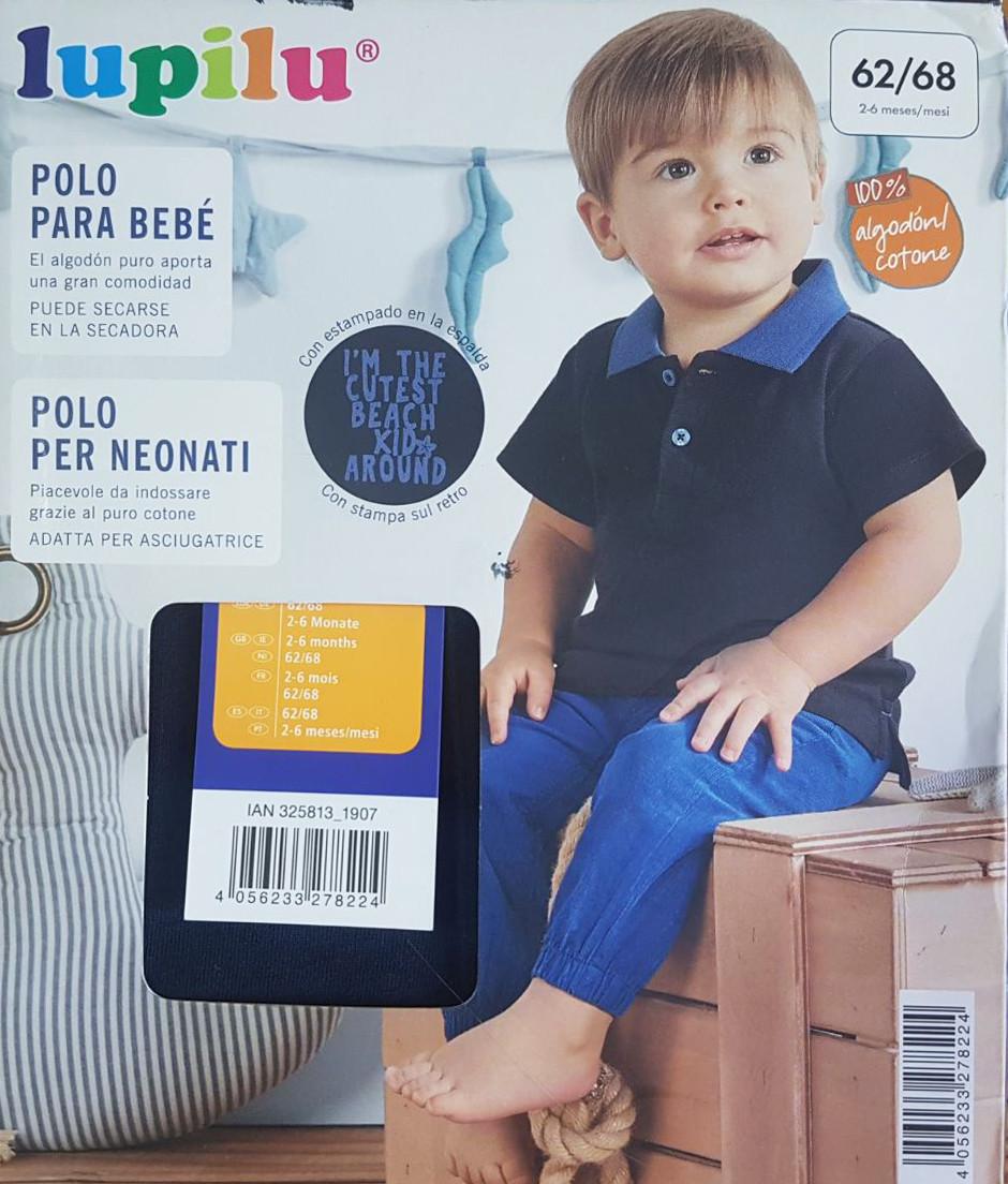 Футболка для мальчика Поло, рост 62/68, цвет темно-синий