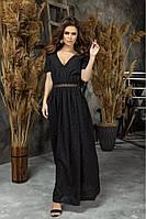 Жіноче довге плаття з прошвы 42 44 46, фото 1