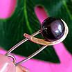 Серебряная булавка с натуральным жемчугом, фото 4