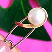 Серебряная булавка с натуральным жемчугом, фото 3