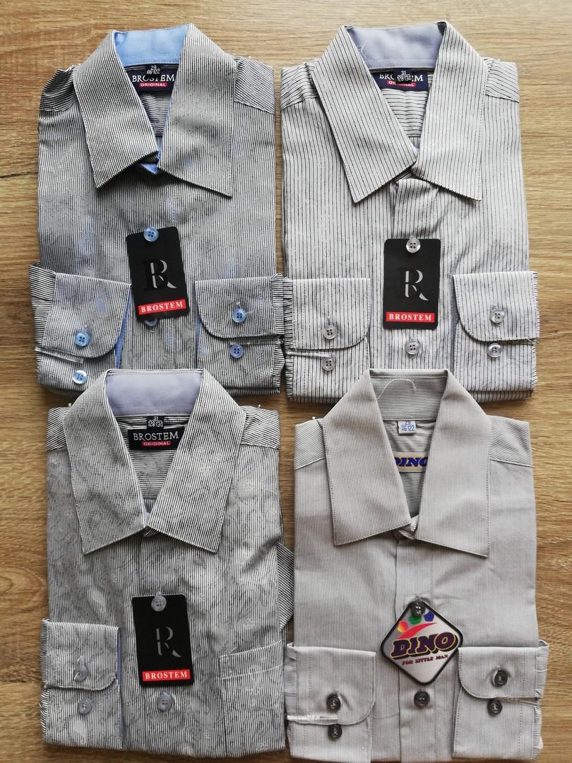 Детская рубашка с длинным рукавом Полоска с узором от 122 см до 164 см