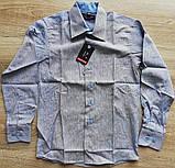 Детская рубашка с длинным рукавом Полоска с узором от 122 см до 164 см, фото 2