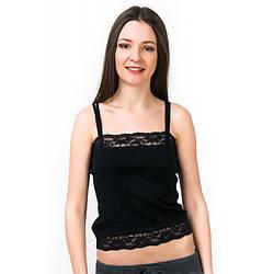 Майка женская кружевная черная Black Pearl (Турция) bp245915