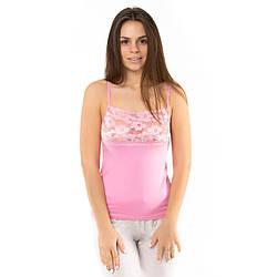 Маечка женская гипюровая розовая Altin (Турция) altn100712