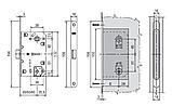 Міжкімнатний Механізм під WC AGB Mediana Polaris матовий нікель, фото 3
