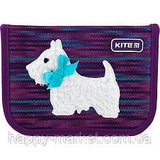Пенал без наполнения Kite Education 1 отделение 2 отворота Cute puppy K20-622-11