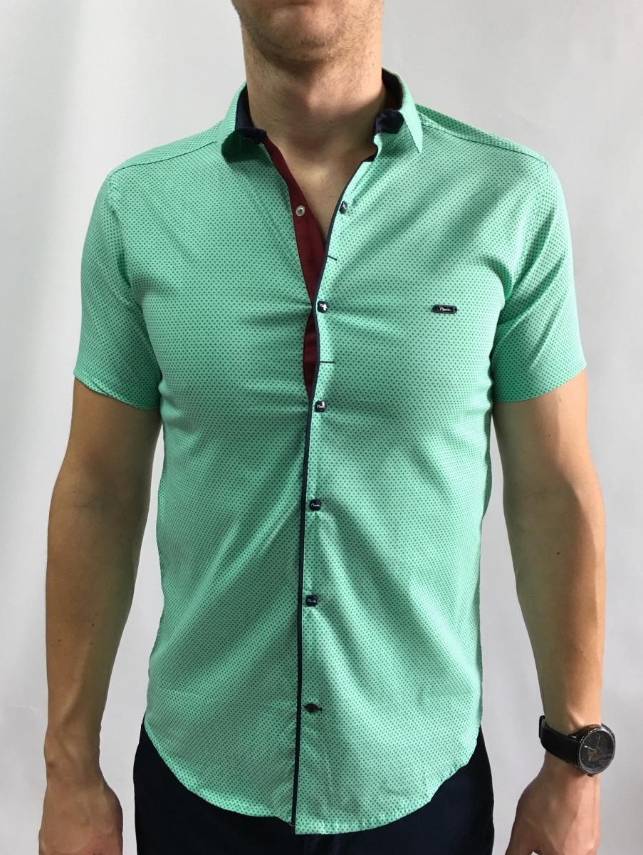 Рубашка короткий рукав PS 95746_10 салатовая