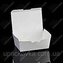 Упаковка из бумаги маленькая БЕЛАЯ для суши и снеков 130*86*46 мм, 50 шт/уп