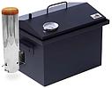 Домашняя коптильня горячего и холодного копчения с дымогенератором и термометром окрашенная 400х300х310, фото 2