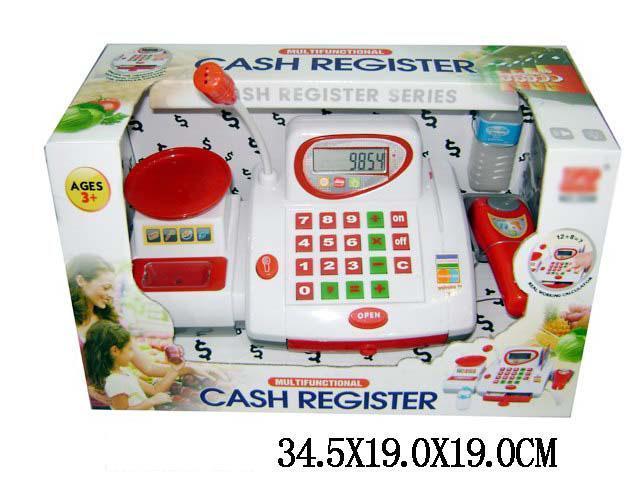 Детская касса 2500 Кассовый апарат, музыкальный, калькулятор. pro