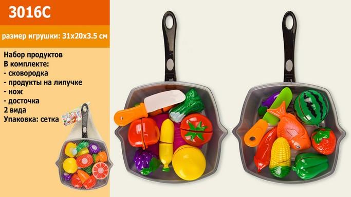 Овощи и фрукты 3016С делятся пополам сковородка Набор продуктов. pro