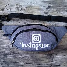 Бананка два відділу, Instagram світловідбиваюча, сумка на пояс/плече