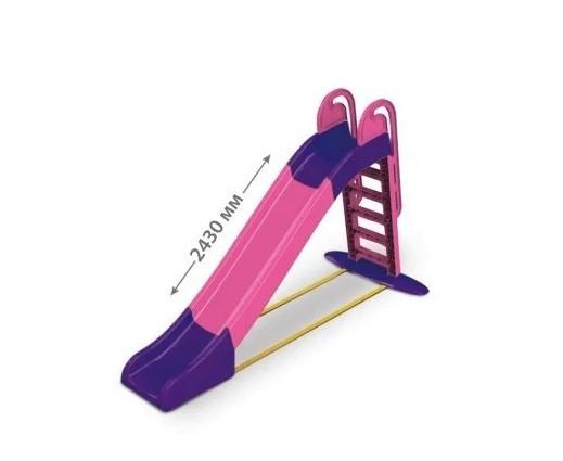 Гірка для катання дітей спуск 243 см рожева/фіолет Долони Doloni детская горка. pro