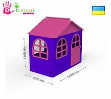 Будиночок для дітей 02550/10 Долони Doloni 1290*690 рожевий/фіолетовий пластик,дитячий будинок. pro