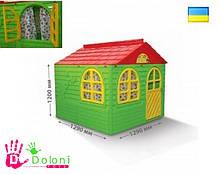 Будиночок для дітей 02550/3 зелений Долони Doloni 1290*1290 пластик,дитячий будинок. pro