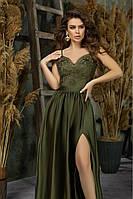 Длинное вечернее платье из Шелка Аромани 42,44,46