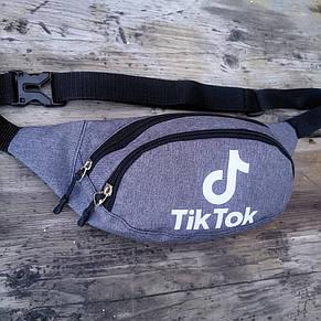 Бананка два отдела, TikTok светоотражающая на пояс/через плечо, фото 2