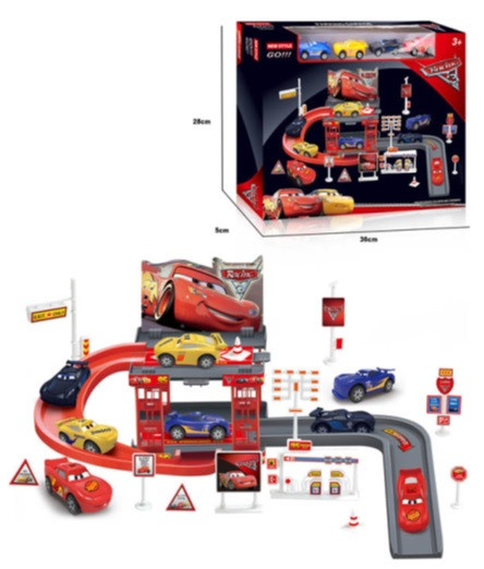 Паркинг автотрек 660-А Тачки с машинками. pro