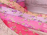Лента атласная  в мелкий цветочек, прованская, 2.3 см, 10 грн\м, фото 7