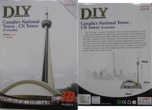 3D Пазл 2801М Canada's National Tower, Си-Эн Тауэр. pro