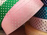 Ленты цветные атласные в мелкий горошек, 2,5 см, 1 метр-10 грн, фото 5
