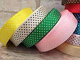 Ленты цветные атласные в мелкий горошек, 2,5 см, 1 метр-10 грн, фото 2