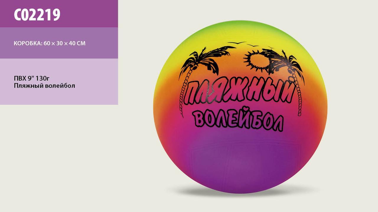 """Мяч волейбол 02219 Пляжный 9"""", 23см, 130г. pro"""