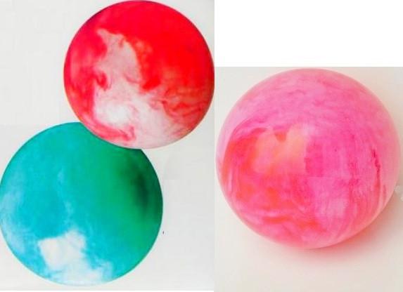 Мяч резиновый детский 23см Дымок голубой. pro