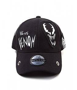 Офіційна кепка Marvel Comics - Venom Grunge Cap With Patches