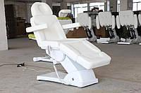 Косметологическое кресло кушетка электрическая BR-2309 кресло для косметолога 3 электромотора цвет белый ВИДЕО