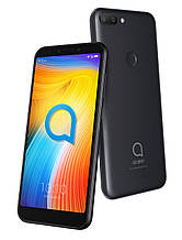 "Alcatel 1s 5024D Black 5,5"" 3-32Gb,  смартфон алкатель 8 ядер, двойная камера, сканер пальца."