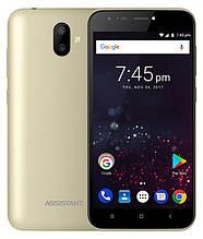 """Assistant AS-503 Gold 2/16Gb  5"""" 2Gb. ROM:16Gb IPS Quad Core смартфон ассистент ассистант СУПЕР ПРЕДЛОЖЕНИЕ 2/16"""
