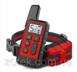 Электроошейник DT-884 Красный для дрессировки собак, электронный ошейник аккумуляторный с экраном