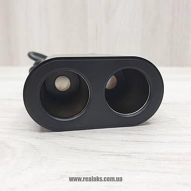 Авторазветвитель прикуривателя Baseus Q-01 (Black), фото 3
