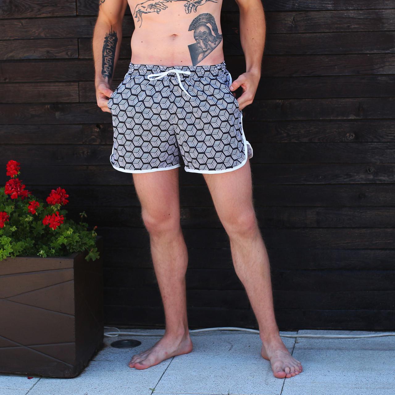 Плавки мужские с принтом бренд ТУР модель Ромб  ( Romb) размер S, M, L, XL,XXL, XXХL