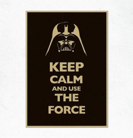 Постер Дарт Вейдер, плакат Darth Vader Звездные войны Keep calm and use the forse 30*42см