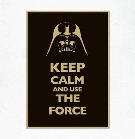 Постер Дарт Вейдер, плакат Darth Vader Звездные войны Keep calm and use the forse 30*42см, фото 2
