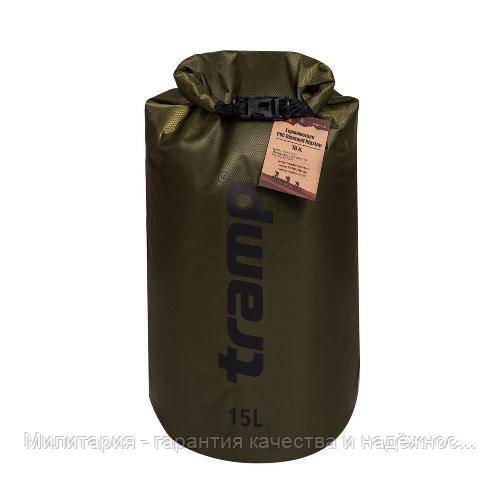 Гермомешок PVC Diamond Rip-Stop 15л Tramp TRA-112-olive