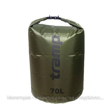 Гермомешок PVC Diamond Rip-Stop 70л Tramp TRA-209-olive, фото 2