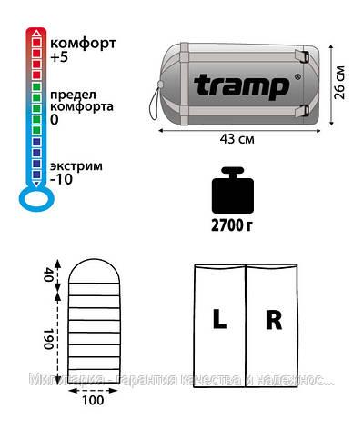 Спальний мішок Tramp Balaton, TRS-016.06 лівий, фото 2