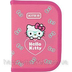 Пенал без наполнения Kite Education 1 отделение 2 отворота Hello Kitty HK20-622