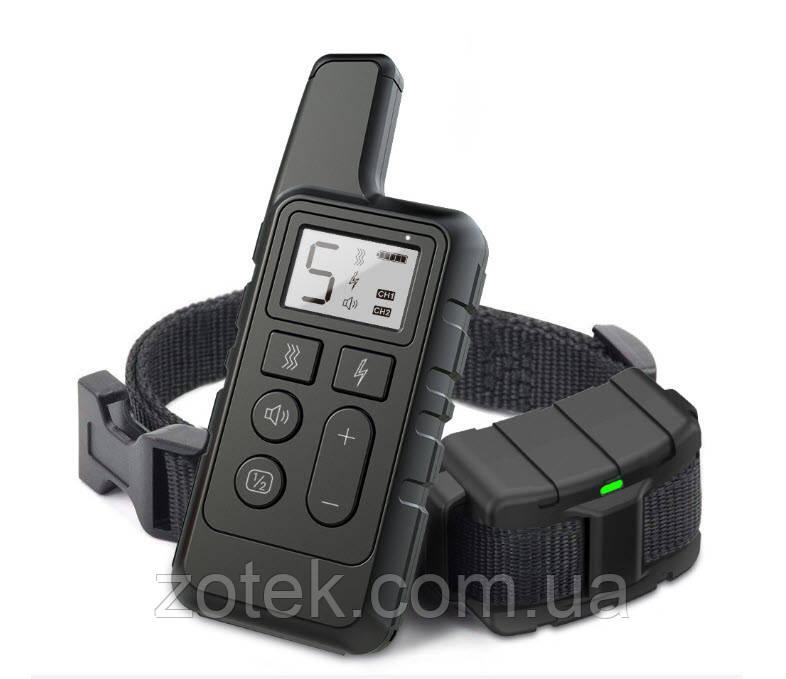Электроошейник DT-884 Чёрный для дрессировки собак, электронный ошейник аккумуляторный с экраном