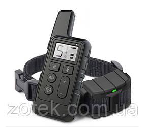 Електронашийник DT-884 Чорний для дресирування собак, електронний нашийник акумуляторний з екраном
