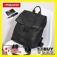 Городской рюкзак в стиле Calvin Klein. Черный унисекс рюкзак. Рюкзак для ноутбука.