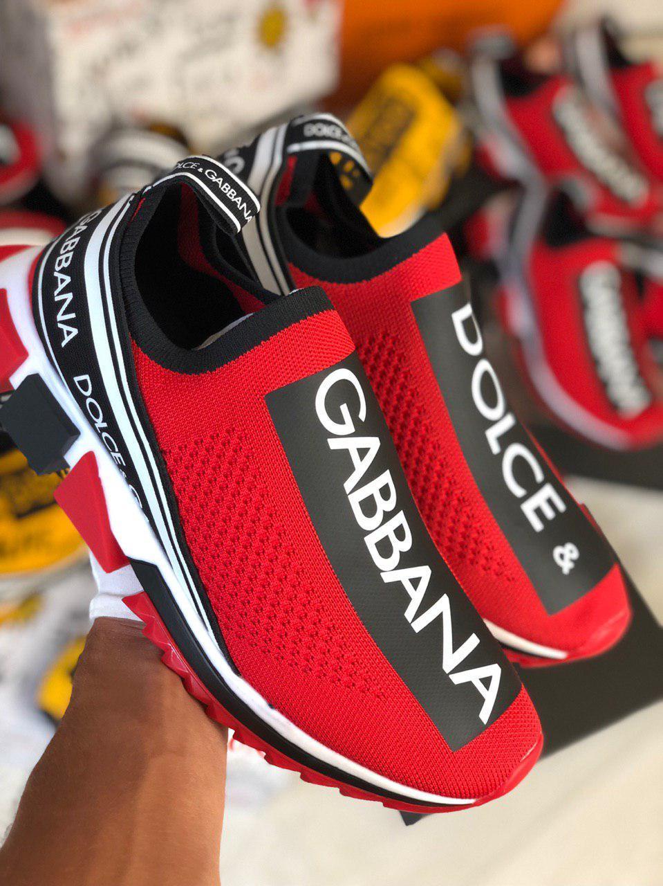 Кроссовки мужские Dolce & Gabbana D7944 красные