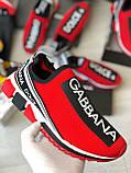 Кроссовки мужские Dolce & Gabbana D7944 красные, фото 3
