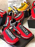 Кроссовки мужские Dolce & Gabbana D7944 красные, фото 4